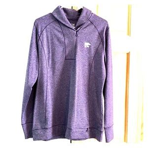 NWOT Cutter and Buck K State 1/4 zip Pullover